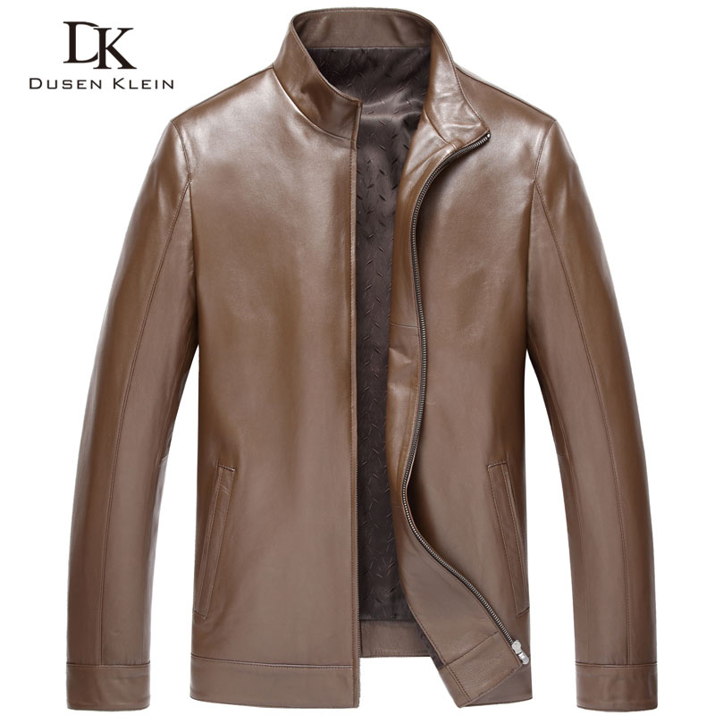 Promotion Genuine Leather Coats For Men 2018 New Spring Outerwear Slim/Simple Business Style/Sheepskin Leather Jacket DK6608A