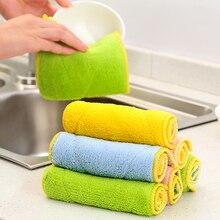 Высокоэффективная анти-смазка из бамбукового волокна для посуды тканевая салфетка для уборки абсорбент для мытья посуды кухонные тряпки для мытья Shamwow