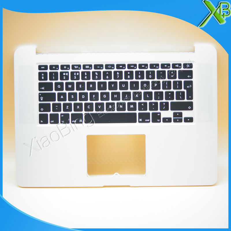 New TopCase with UK Keyboard for MacBook Pro Retina 15.4 A1398 2013-2014 years original new a1502 top case with keyboard uk version for macbook pro retina 13 2013 2014
