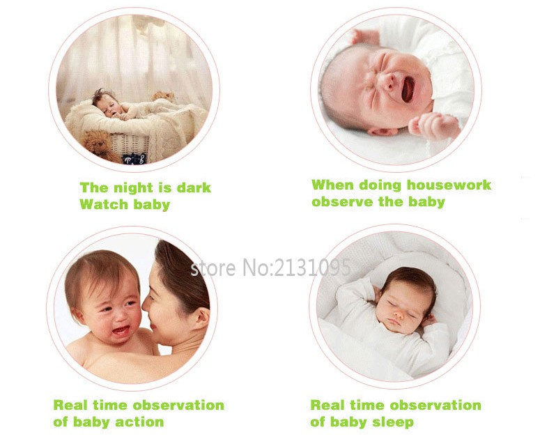 2016 New baba electronics sem fio 3.5inch IR Nightvision Intercom Lullabies Temperature Monitor bateria eletronica doppler fetal (5)
