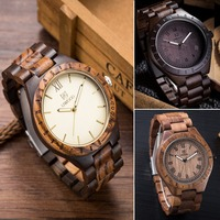 New Top Brand UWOOD Watch Japanese MIYOTA Movement Wristwatch Vintage Wooden Watches For Men And Women