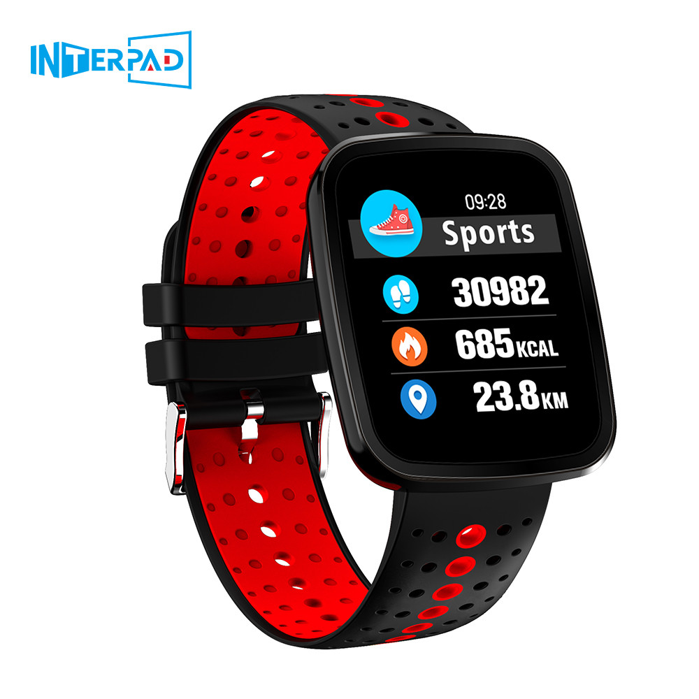 Interpad Health Smart Watch Sport Fitness Tracker Bluetooth Montre Connect With Android iOS Smartwatch With 1.3 Color Screen