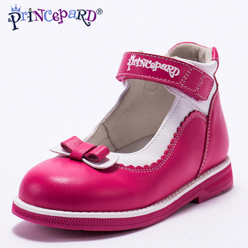 Princepard New summer orthopedic sandals for girls genuine leather princess shoes pink student shoes pig leather lining insole