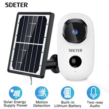 SDETER Argus 2 Wire-Free Security Camera Outdoor Rechargeable Battery With Solar Panel 720P IP WIFI Camera Outdoor 2-way Audio(China)