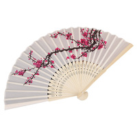 Practical Boutique 12X Hand Held Folding Delicate Plum Blossom Blossom Silk Fans Wedding Party Favours