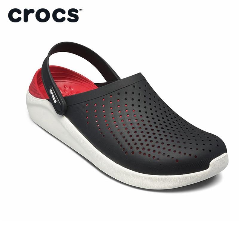 CROCS été nouveau lettré sabot hommes en plein air plage sandales léger doux chaussures pour hommes nouvelles sandales de sport
