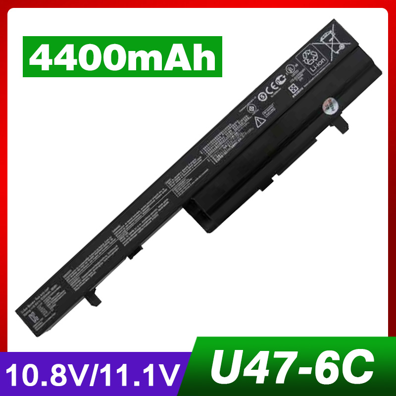 4400mAh Laptop Battery for Asus A32-U47 A41-U47 A42-U47 U47 U47C R404 R404C U47 U47V R404 R404V U47A U47VC R404A R404VC Q400 original xiaomi xiomi mi hybrid earphone 1more design in ear multi unit piston headset hifi for smart mobile phone fon de ouvido