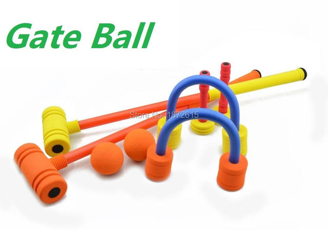 High quality Childrens Gate Ball NBR Material Croquet Set Frog Outdoor Garden Game Beach Fun kids's Toy Gift for chirldrens
