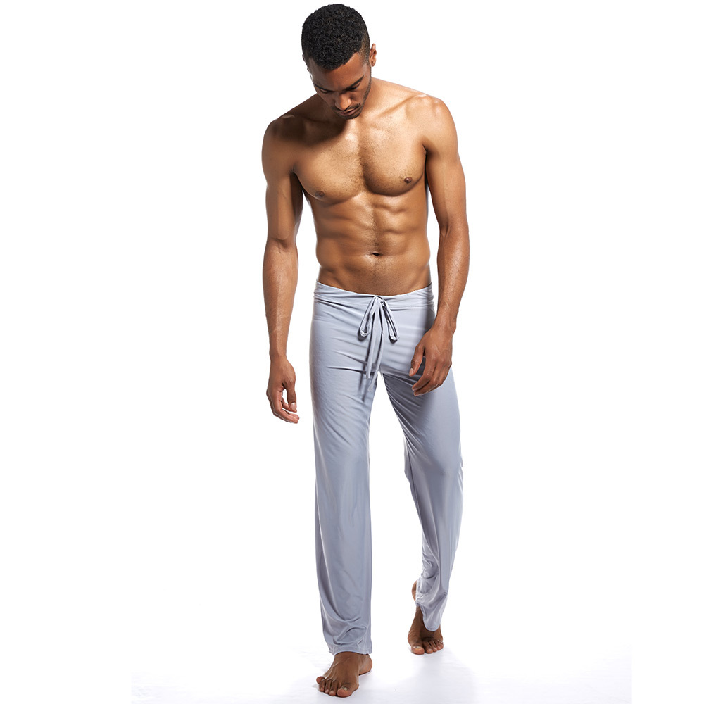 Plus Size Sleep Bottoms Men's Sleep Wear Loose Drawstring Pajamas Pants Casual Home Wear Lounge Pants Sexy Men's Yoga Trousers