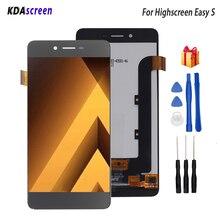 עבור Highscreen קל S LCD תצוגת מסך מגע Digitizer חלקי טלפון Highscreen קל S תצוגת מסך LCD כלים חינם