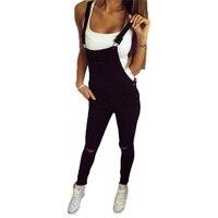 BEFORW Brand Jeans Women Jumpsuit Denim Romper Overalls Casual Long Trousers Black White Denim Pants Wide