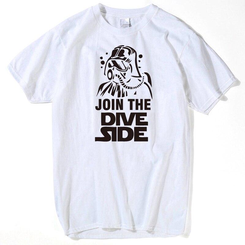 Unirse a la inmersión Lado Oscuro Scuba Div ING Underwater hombres mujeres  T-Shirt Palacio dragon ball Anime Tokio ghoul hombres camiseta más tamaño d29db2a5bf73