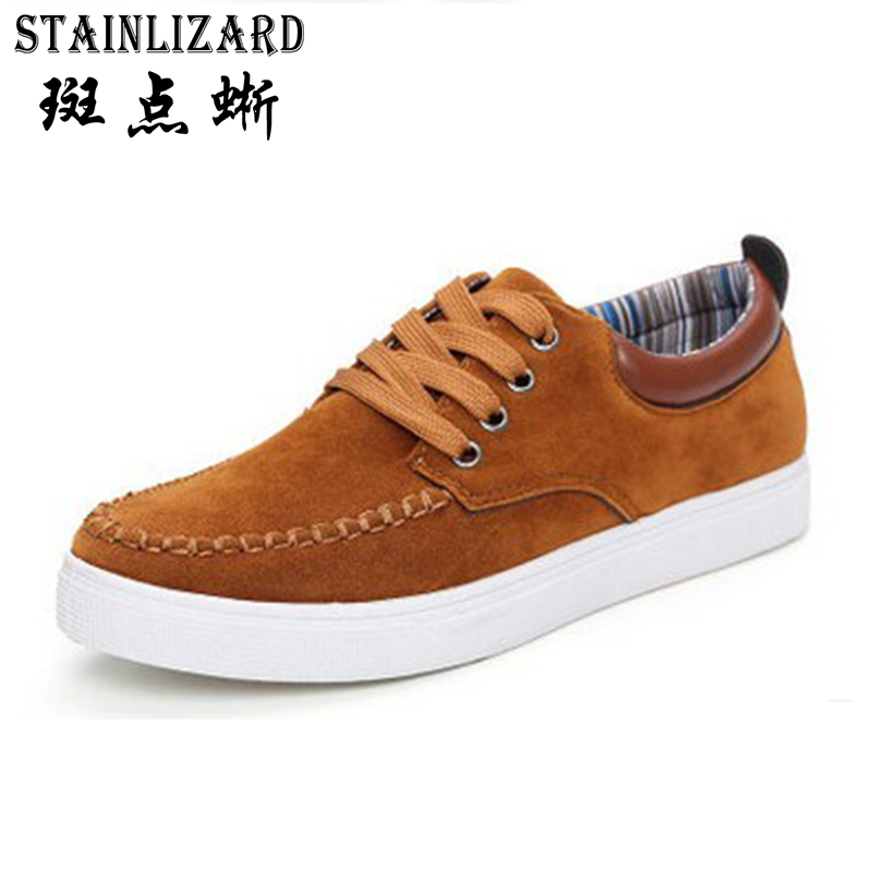 STAINLIZARD Casual Flats Shoes Men New Fashion Lace Up Comfortable Oxfords Flat Autumn Pu Leather Men Shoes DT1011 2015 autumn winter men casual shoes fashion business suede men oxfords shoes lace up comfort casual men flats shoes