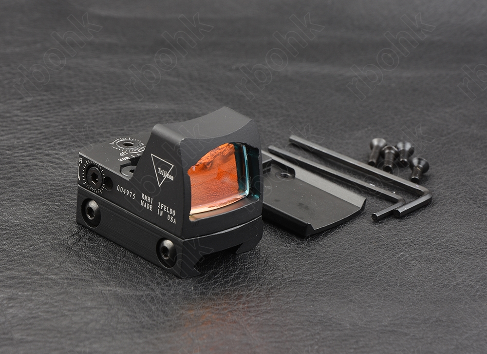 Hunting Shooting Mini Trijicon Rmr Style 1x Red Dot Sight Scope With 20mm Picatinny Rail 1913 Base And Glock Base Mount M9410
