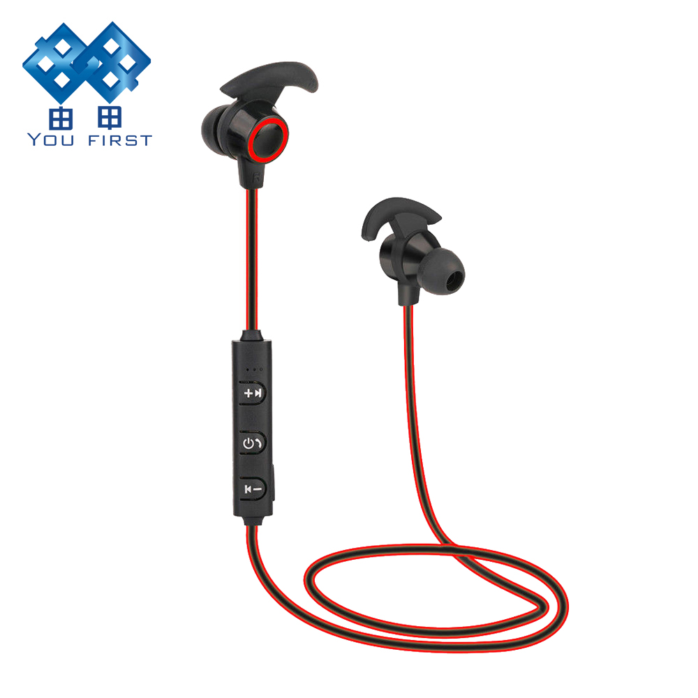 YOU FIRST Earphones Wireless Bluetooth 4.1 Earphone Sport Stereo Microphone In Ear Noise Cancelling for Xiaomi iPhone 6 S 7 Plu m320 metal bass in ear stereo earphones headphones headset earbuds with microphone for iphone samsung xiaomi huawei htc