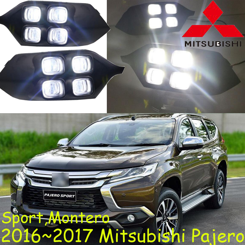 Mitsubish Pajero daytime light;2016~2017, Free ship!LED,Pajero fog light,Outlander,Pajero montero ...