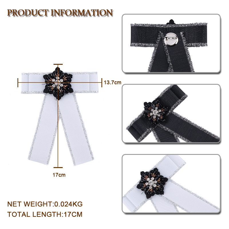 Best lady Fashion Jewelry Cheap Classic Statement Scarf Brooches Pins Hot Sale Bowknot Trendy Cloth Clip Women Tie Bow Brooches