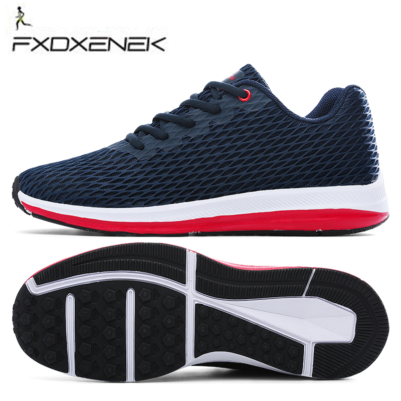 Breathable Outdoor Sport Shoes Men Mesh Light weight Running Shoes For Men Athletic Training Shoes Spring Summer Male Sneakers