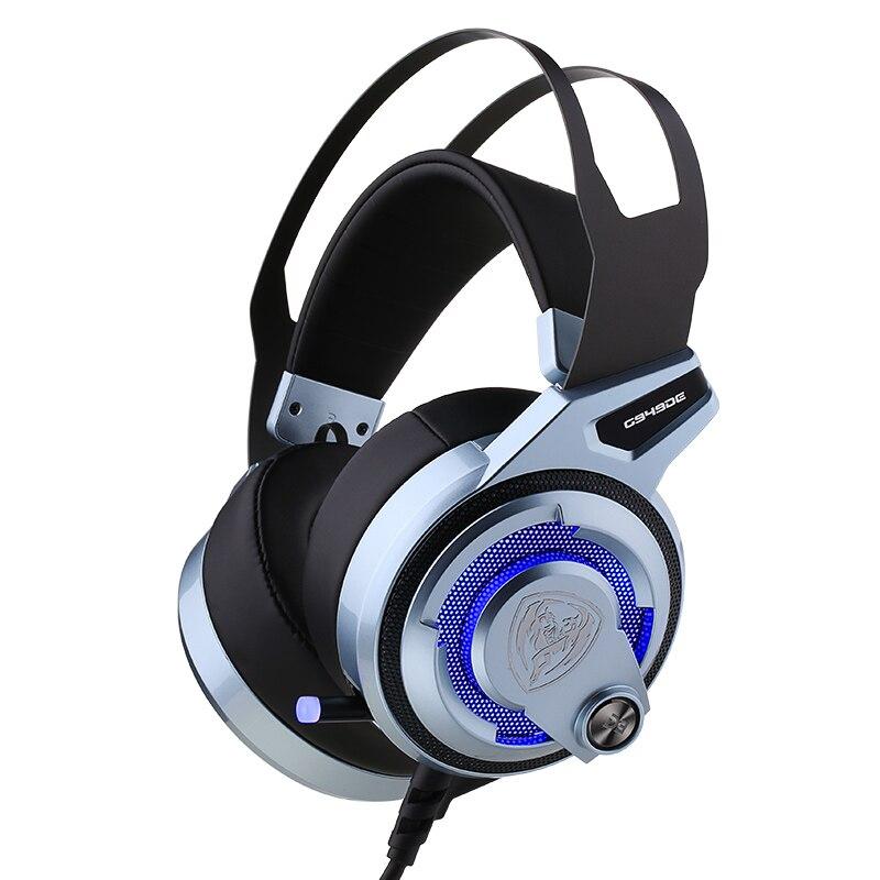 D'origine SOMIC G949DE LED Virtuel 7.1 Surround Sound PS4 LOL Gaming Casque, USB Antibruit Casque avec 4 Haut-parleurs