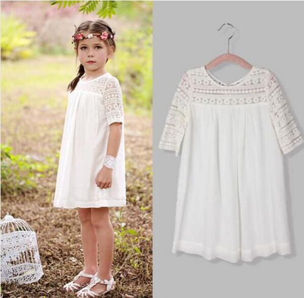 Summer party girls dress princess baby clothes formal