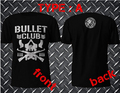 NEW Bullet Club Japan Pro Wrestling Puroresu T Shirt Mens Njpw 2 Side Black T-Shirt Men Fitness Short Sleeve T shirt Cotton Tee