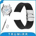 19mm 20mm 21mm 22mm 23mm 24mm patrón de malla de caucho de silicona venda de reloj para fossil resina de pulsera correa de pulsera de la correa