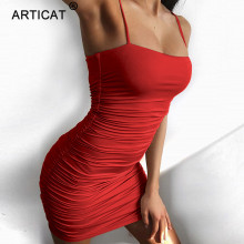 Strapless Spaghetti Strap Bandage Mini Dress