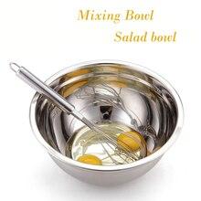 2016 zutaten Standby Schalen Rührschüssel Edelstahl DIY Kuchen Brot Salat Mixer Küche Kochen Werkzeuge