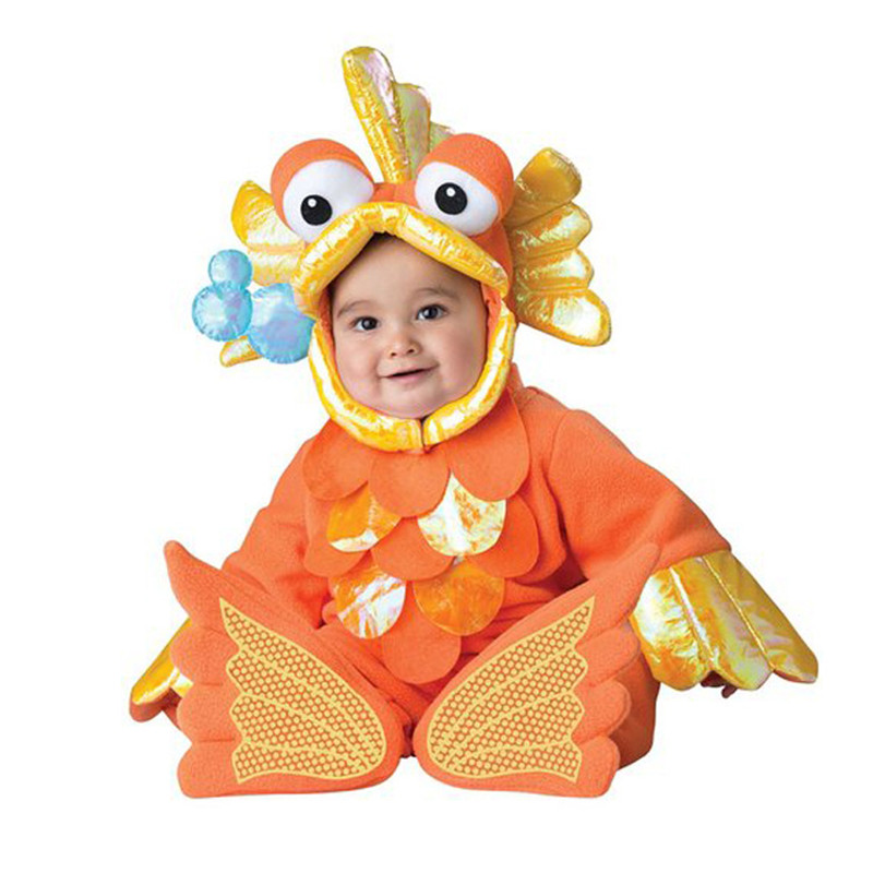 New gold fish baby babygrow outfit kids animal toddler for Baby fishing outfit