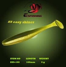Esfishing New Fishing Lure Soft Es Easy Shiner 4″6pcs 10cm/6g Crankbait Lure Wobblers Plastics Trout Baits Pike lure