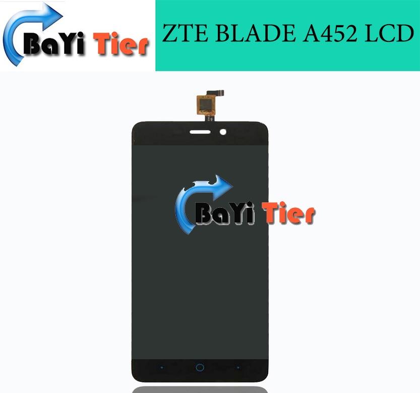 100% de alta calidad de zte blade a452 pantalla lcd original de reemplazo de pan