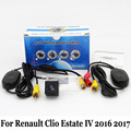 For Renault Clio Estate IV 2016 2017 / RCA AUX Wire Or Wireless Camera / HD Wide Lens Angle / CCD Night Vision Rear View Camera