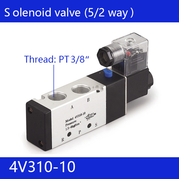 Free shipping good qualty 5 port 2 position Solenoid Valve 4V310-10,have DC24v,DC12V,AC24V,AC110V,AC220V high quality ac 220v 4v310 10 2 position 5 way air solenoid valve free shipping