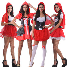 Navidad Contiene Chal Princesa Falda de Gules Cuentos de Hadas de Halloween Traje de la Navidad de Red Hat Cosplay Servicio de Salida