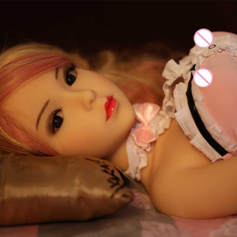 100 см секс кукла настоящая Силиконовая секс-Кукла Реалистичная грудь Вагина анальный Металлический Скелет Мужская мастурбация игрушки для взрослых бесплатная доставка