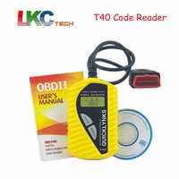 2019 T40 Code Reader QUICKLYNKS Multi-language CAN OBDII Scanner T40 Auto Diagnostic Tool OBD2 EOBD JOBD