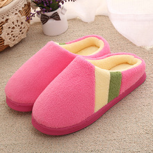 Winter Warm Slippers Thick Bottom Home-slippers Unisex Plush House Slippers Pantunflas Women Chinelo Feminino Pantoffels Dames