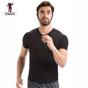 Image 5 - Männer Tops Tees 2018 Mode Schwarz T hemd Männer Neopren Kurzarm Shirt Plus Größe 5XL Neue Shapers Kompression abnehmen Shirts