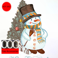 Christmas Snowman Digital Printing Shower Curtain Fabric Multi functional Shower Curtain Creative Shielding Curtain