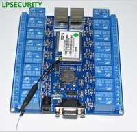LPSECURITY 2pcs smart automation HLK-SW16 16 Channel Android/Smart Phone CWiFi Relay /WiFi Relay Module