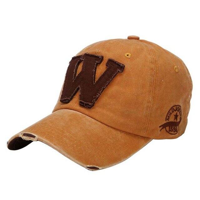 Casquettes de Baseball 2019 coton lettre W | 1 pièce, casquettes de printemps et dété de marque à os pour femmes et hommes, casquettes de Baseball 8542 7 couleurs