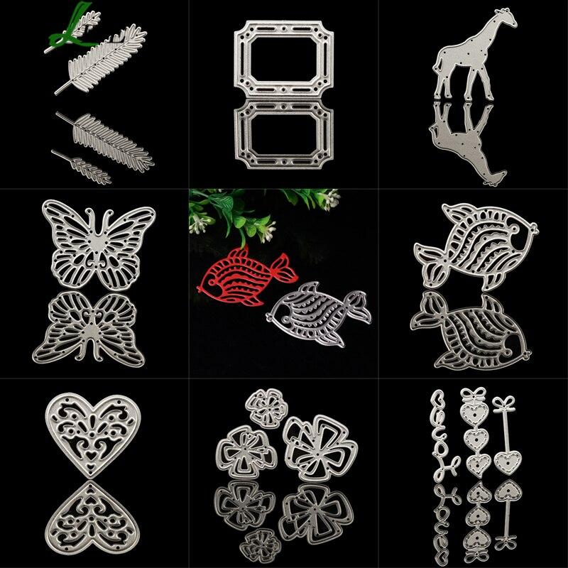 Giraffe Butterfly Heart Metal Cutting Dies Craft Dies Stencils For Scrapbooking DIY Album Decor Embossing Dies Cutter #714