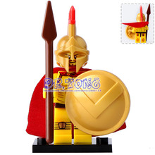 DR.TONG 20pcs/lot Xh647 Gladiatus Figures Medieval Knights Rome Commander Super Heroes Building Blocks Bricks Toys Child Gifts