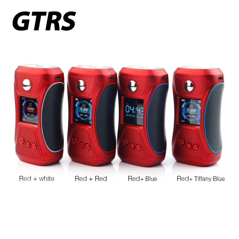 Original GTRS VBOY 200 TC Box MOD Body Color Red/silver Edition with SX500 Chip & 1.3-inch TFT IPS Full-color Screen E-cig Mod