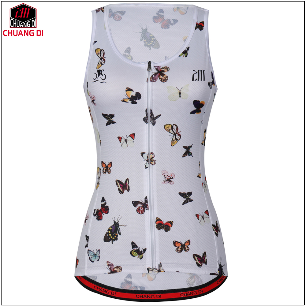 High quality Women Sleeveless Riding Bike Cycling Vest Sunscreen Bike Vest Lightweight Breathable Bike Bicycle Jersey Clothes