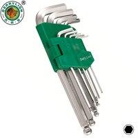 BERRYLION 9pcs Inches Hex Allen Key Set L Shape 1 16 3 8 Allen Wrench Universal