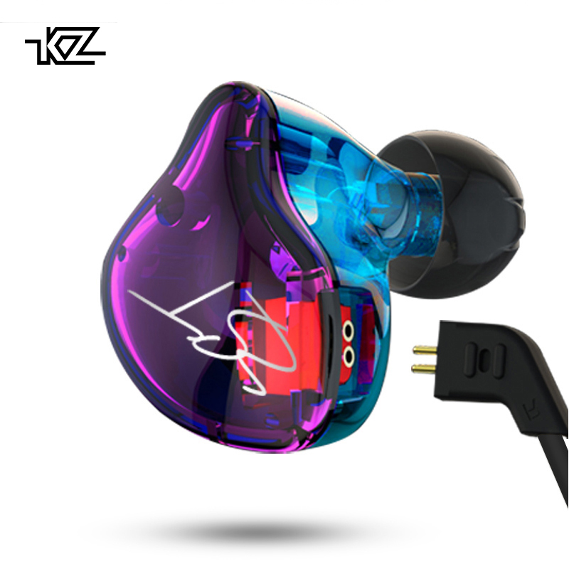 KZ ZST Pro Armature Dual Driver 3.5mm Earphone Detachable Cable In Ear Audio Monitors Noise Isolating HiFi Music Sports Earbuds
