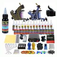Solong Tattoo Pro Tattoo Kit 2 Rorary Tattoo Machine Gun Power Supply 1 Practice Skin Dual