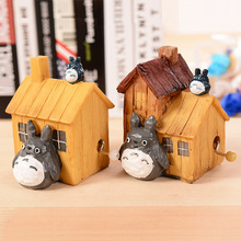 Lovely Totoro Music Box Totoro Resin Craft Collectible Toys Dolls Music Box Children Toys Christmas Gifts Tirelire Currency Save
