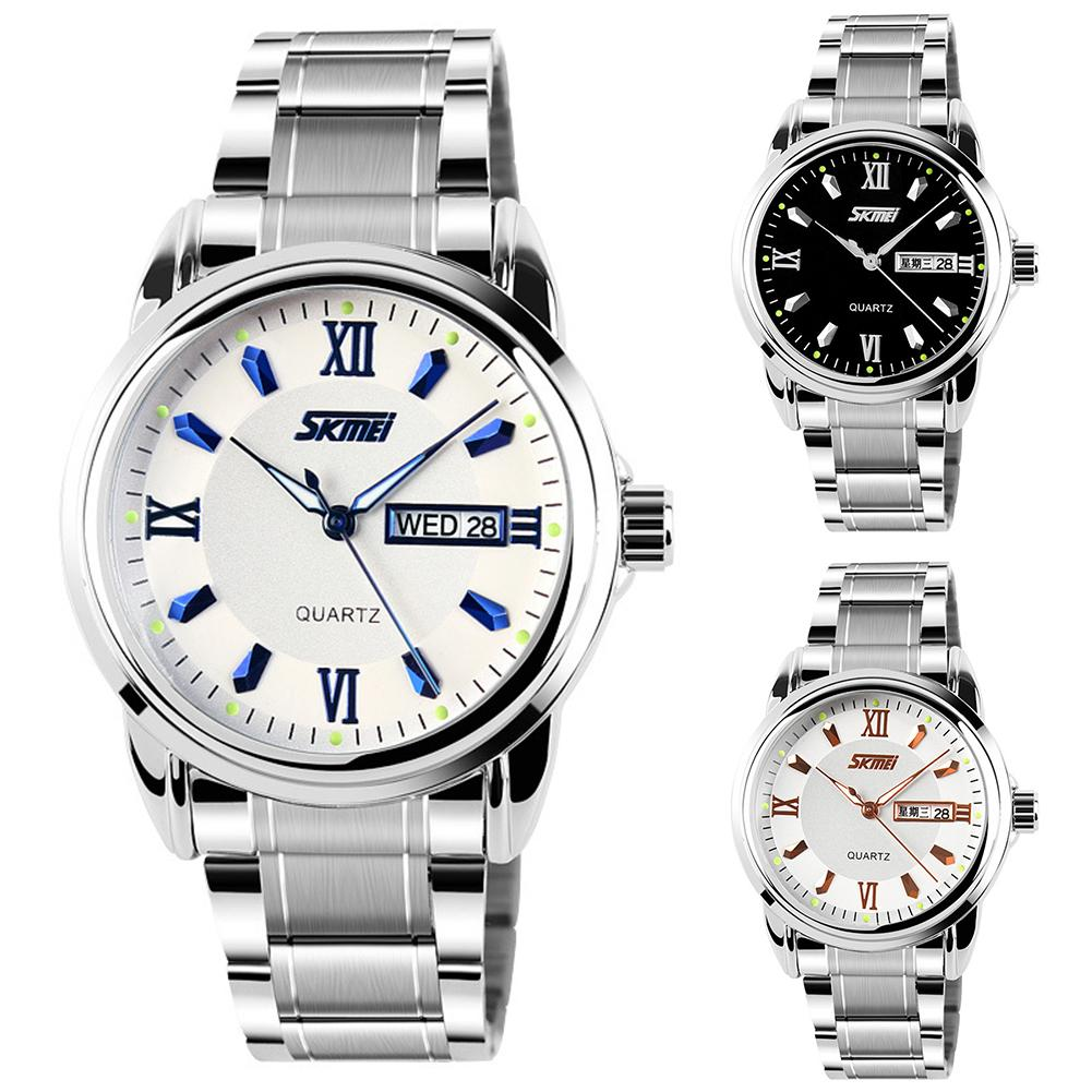 Waterproof Weekday Date Round Dial Analog Business Men Quartz Wrist Watch Gift